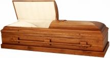 821 Solid Oak Orthodox Casket